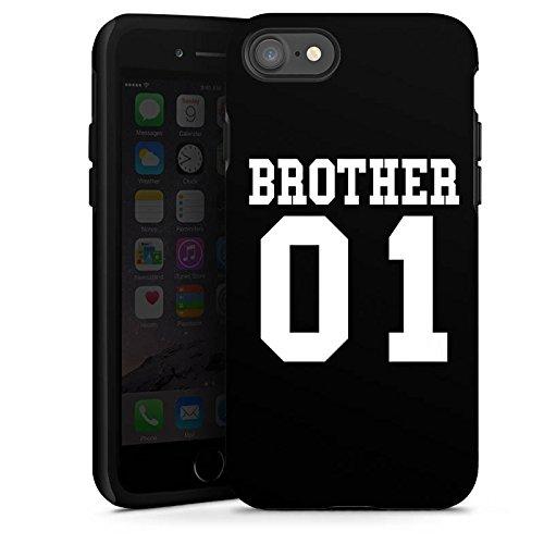 Apple iPhone X Silikon Hülle Case Schutzhülle Brother Bruder Bro Tough Case glänzend