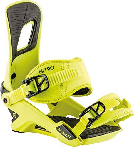 Nitro Snowboards Herren Rambler Bdg'19 All-Mountain Highend Snowboardbindung komfortable Allroundbindung Bindungen, Toxic, M