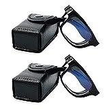 VEVISTARS Faltbare Lesebrille Herren Damen Anti Blaulicht Federscharnier Anti Müdigkeit Vollrandbrille mit Etui Schwarz Leopard 1.0 1.5 2.0 2.5 3.0 3.5 4.0 (2 x Schwarz, 1.5)