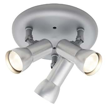 Brilliant 36334/11 Troll Plafonnier circulaire avec 3 spots E27 Maximum 60 W Compatibles avec lampes réflectrices R63 Titane