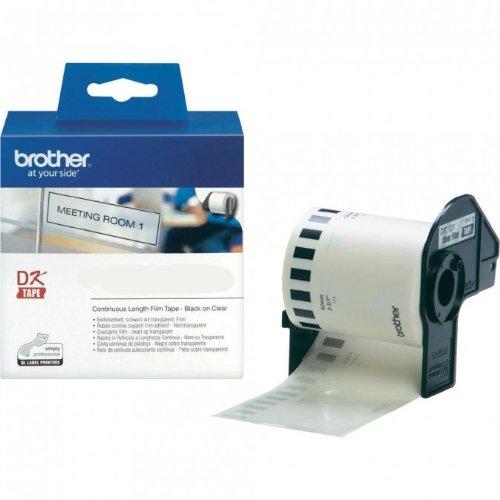 Preisvergleich Produktbild P-Touch QL 720, QL 720NW Brother Etiketten Transparent 62 mm x 15, 24 meter, Film, 1 Endlosetikett, DK Label für Ptouch QL720, QL-720 NW