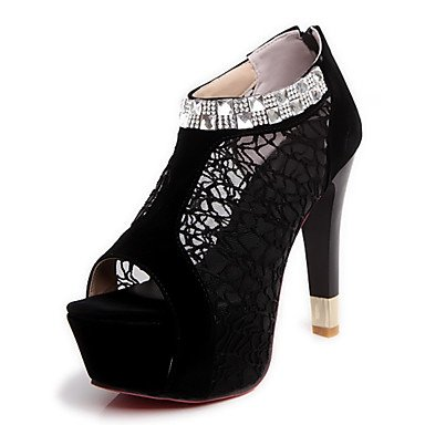 Moda Donna Sandali Sexy donna tacchi Primavera / Estate / Autunno Platform Party & Sera Stiletto Heel scintillanti Glitter / ZipperBlack / blu / beige