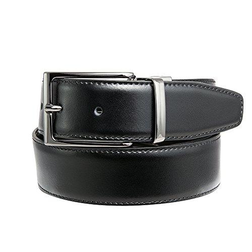 Cintura Uomo 100% Vera Pelle, Reversibile, Prodotto Artigianale 100% Made in Italy