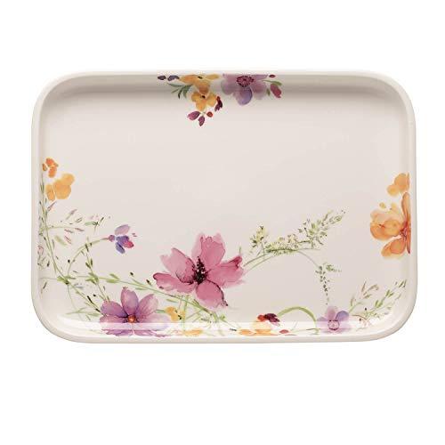 Villeroy & Boch Mariefleur Basic Plat de service de cuisson, 36x26 cm, Porcelaine Premium, Blanc/Multicolore
