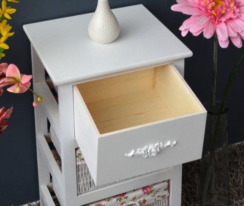 C moda en estilo r stico y antiguo armario estanter a en - Ikea mesitas de noche y comodas ...
