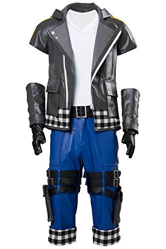 Karnestore Kingdom Hearts III Riku Outfit Cosplay Kostüm Herren M (Riku Cosplay Kostüm)