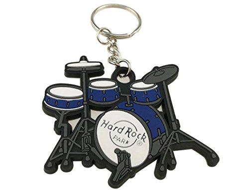 Schlüsselring mit kreativem Schlüsselanhänger in lebendigen Farben, Musikinstrument, Geschenk, Dekoration, Blue Drum