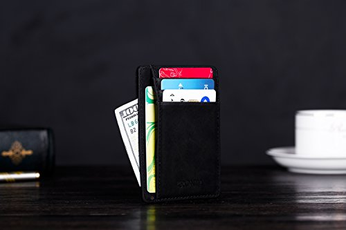 41MvKfKBxJL - Kronya | Elegant Leather Wallet with RFID Protection | Wallet Case Money Clip Holder Credit Card Holder