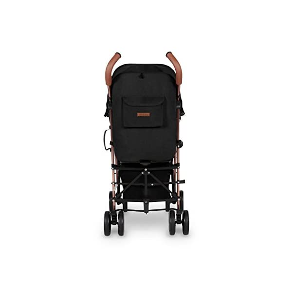 Ickle Bubba Baby Discovery Max Stroller| Lightweight Stroller Pushchair | Compact Fold Technology for Easy Transport and Storage | UPF 50+ Extendable Hood | Black/Rose Gold Ickle Bubba ONE-HANDED 3 POSITION SEAT RECLINE: Baby stroller suitable from 6 months to 22kg. 4 years old; features luxury soft quilted seat liner, footmuff, cupholder, and rain cover UPF 50+ RATED ADJUSTABLE HOOD: Includes a peekaboo window to keep an eye on the little one; extendable hood-UPF rated-to protect against the sun's harmful rays and inclement weather LIGHTWEIGHT DESIGN WITH COMPACT FOLD TECHNOLOGY: Easy to transport, aluminum frame is lightweight and portable-weighs only 7kg; folds compact for storage in small places; carry strap and leather shoulder pad included 11