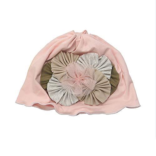 AIBAB Herbst Und Winter Von Hand Blume Baby Prinzessin Neugeborenen Kind Baumwolle Vollmond Kopf Cap Schutz Fontanelle Hut Fetal Cap