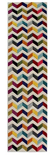 Flair Rugs Spectrum Bolero Runner, Multi, 60 x 230 Cm