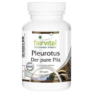 fairvital - Pleurotus - The Pure Mushroom 500mg - Mushroom Powder - 90 Vegetarian Capsules by fairvital