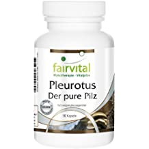 Pleurotus 500mg, Pleurotus ostreatus, Pilzpulver, vegan, 90 Kapseln
