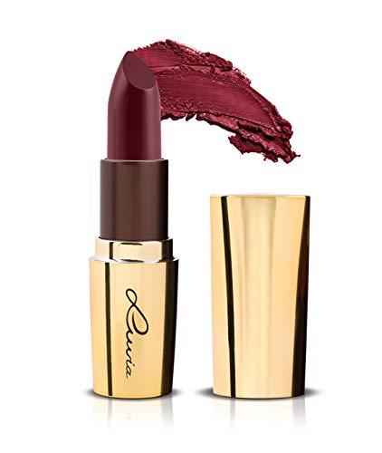 Luvia Lippenstift Dunkelrot Rot - Oriental Night Lipstick - Extra Deckend und Pflegend - Langanhaltend Glänzend - Vegane Kosmetik - Made In Italy