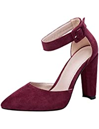 es Tacón Vino Color Amazon Tacon De Zapatos BAqdfwY4