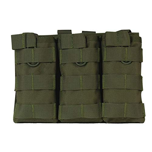 SHIYM-DJIA, Tactical Triple-Open-Top-Magazintasche Fast for AK AR M4 FAMAS Mag Pouch Airsoft Militär Paintball Equipment AG
