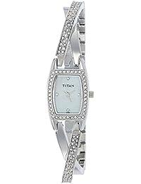 Titan Purple Analog White Dial Women's Watch -NK9851SM01