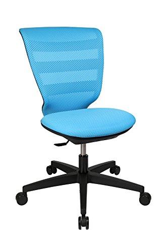 Topstar X-Pander Junior, ergonomischer Kinderdrehstuhl, Schreibtischstuhl, Stoff, Hellblau -