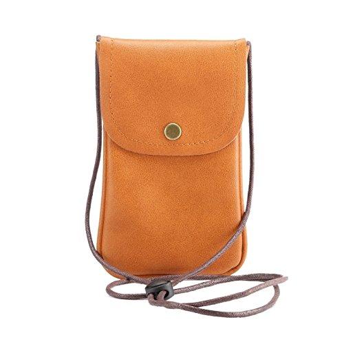 wkae Schutzhülle Case & Cover Universal Vertikal PU Leder Case/Leder Tasche mit String für iPhone 6S Plus, Samsung Galaxy Note 5& Note4/S7/S6Edge +, Huawei P8und P7/HONOR 6 braun
