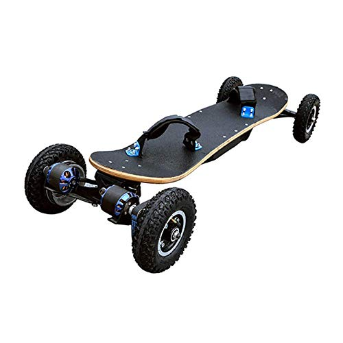 ZQYR GAME# 40 km/h Elektrisches Skateboard Mountainboard Off-Road-Zweimotor-Doppeltrieb 1200W Hochwertiges Mountainboard LG 11Ah Akku Wireless 2,4 GHz Fernbedienung