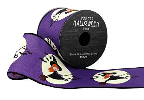 Maker's Halloween-Band, 6,3 x 3,7 m, süße Hexen auf Violett