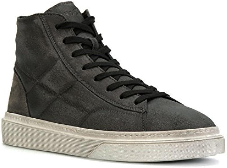 Zapatillas Altas Hogan para Hombre en Gamuza Gris Oscuro - Número de Modelo: HXM3400J560HTQ297N