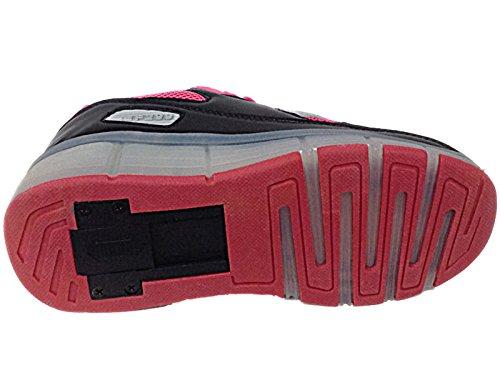 Foster Footwear , Bottes Classiques garçon femme fille mixte enfant Black/Fuchsia