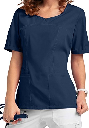 V-Neck Modern Fit Scrub Smart046 Tops (XL, Marine [Navy]) (Uniform Marine Frauen)