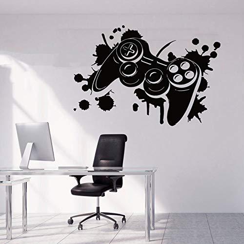 zqyjhkou Game Controller Wall Sticker Vinile Interior Home Decor Ragazzi Room Roomroom Decalcomanie Videogiochi Gamepad Poster Rimovibili murali A166 83x57cm