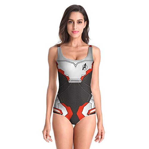 EUCoo Damen Bademode Sport Schwimmen Badeanzug Sexy Print Low-Cut Badeanzug Surfwear(Mehrfarben, XL)