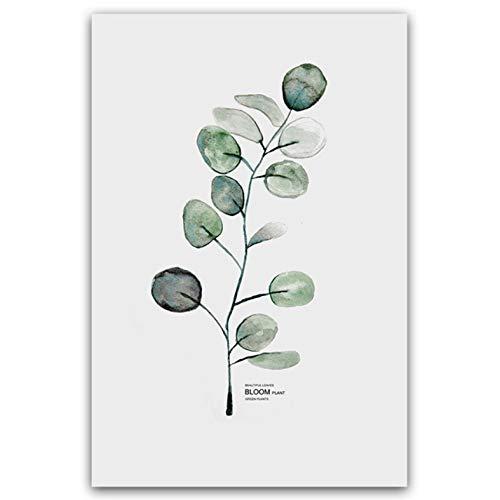 Einfache Aquarell Vase Grüne Pflanze Kunst Poster Wand Kunstdruck Leinwand Malerei Bild Modern Home Living Room Decor 50x70 cm - Kunst-poster, Malerei