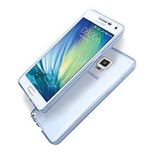 Vandot Samsung Galaxy Note 4 Coque de Protection Etui Transparent Antidérapant Pour Samsung Galaxy Note 4 Etui Protection Dorsale Étui Slim Invisible Housse Cover Case en TPU Gel Silicone Hull Shell-B Transparent-Blue