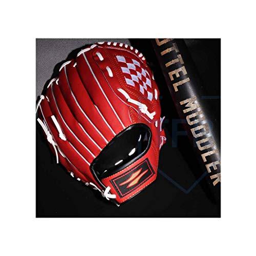 YYSS Softball-Handschuhe for Kinder im Teenageralter, Profi-Baseballhandschuh for Catching-Red (Size : 11inch) (Zoll Softball-handschuh-11)
