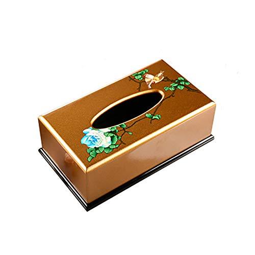 Wjsw scatola porta fazzoletti,design originale cinese pittura a olio colorata in legno home office arte decorazione tovagliolo rotolo scatola carta,greenflower