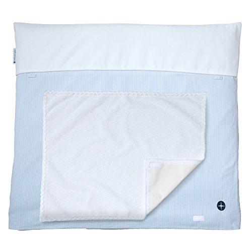 Preisvergleich Produktbild Nordic Coast Premium Wickelauflage, 80 x 70 cm, blau / weiße Streifen