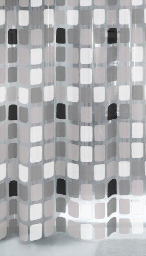 Kleine Wolke 4956901305 Duschvorhang Sonny, 180 x 200 cm, anthrazit