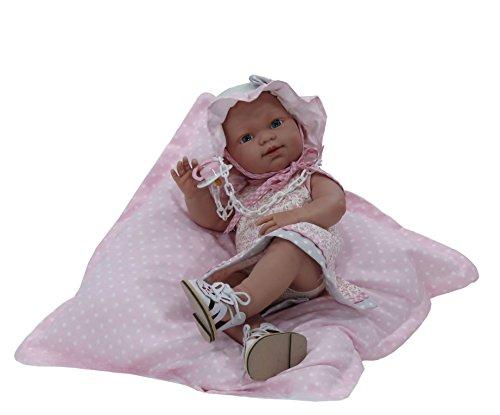 Nines Artesanals d'Onil - Muñeca Baby recién nacido de colección con cojín de regalo (426)