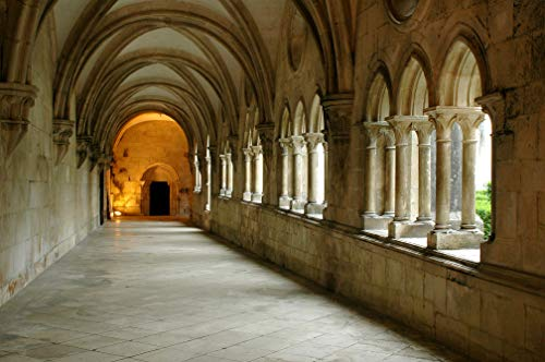 VLIES Fototapete-KLOSTER-400x260 cm-8 Bahnen-(21453)-Inkl. Kleister-EASYINSTALL PREMIUM-Kathedrale...