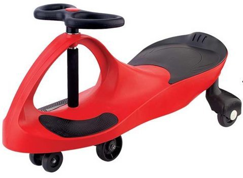 2012 BEST RIDE ON TOYS PLASMA SWING SWIVEL WIGGLE SCOOTER CAR (RED COLOR)