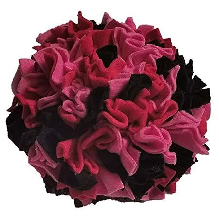 Schnüffelball hochwertige Handarbeit ca. Ø 20cm rot/pink/schwarz