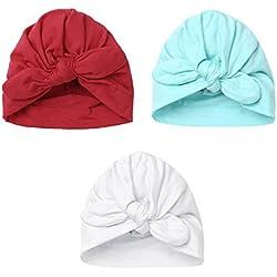 YiZYiF Lot de 3 Bébé Bonnets Nouveau né Coton Crochet Papillons Chapeau Unisexe Bébé Garçon Fille Naissance Tricot Hat Cap Noël Cosplay 0-6 Mois Style A 1 3 PCS