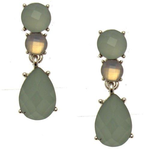 Frosted Mint, Dusky Rose Jeweled Tropfenform Ohrringe (Silber Farbige)-Kommt mit Geschenk Beutel-Hochzeit Zubehör