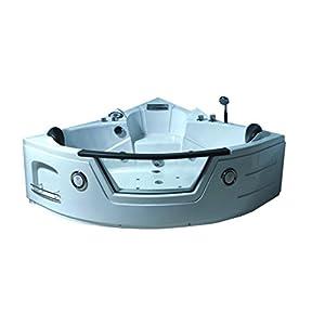 Bañera hidromasaje Model MIAMI 135 x 135 cm Bañera de esquina spa hidromasaje Piscina Spa NUEVA Terapia luz de colore para 2 nueva
