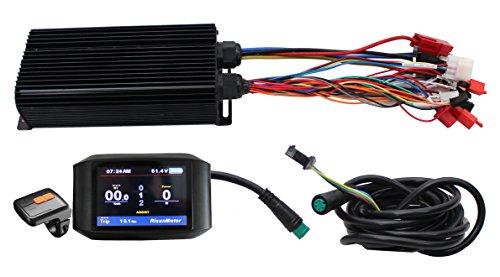 HalloMotor 36V 48V 60V 72V 2000W 80A 24 MOSFET Intelligent Programmable Controller with Colorful Display Color Screen TFT-750C Display for e-Bike Electric Bike