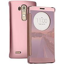 Funda LG G4, TOROTON LG G4 Casco Carcasas Cubierta Protectora de Funda Espejo Concha Clara Anti Choque Anti Rayones Scratch Cubierta en Suave Silicona y PC para LG G4 (Oro Rosa)
