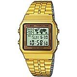 Reloj cuarzo Casio Para Unisex Con  Oro Digital Y Oro acero inoxidable A500WEGA-9EF