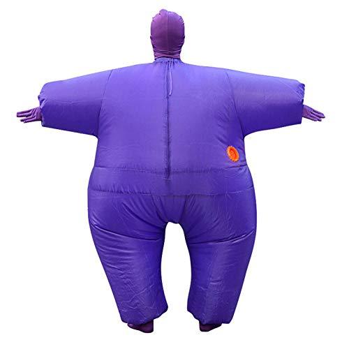 SUREH Aufblasbares Sumo Wrestler Sumo Kostüm Wrestling Fat Suit Kostüm Halloween Party Aufblasen Kostüme Einheitsgröße passt den meisten (Aufblasbare Sumo Kostüm)