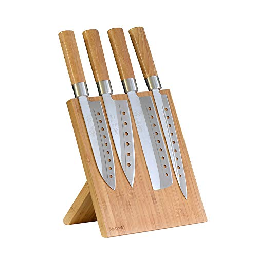ProCook japanisches Messerset, 4-teilig mit Magnet-Messerblock