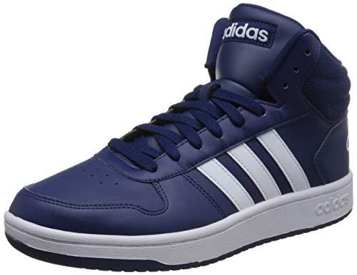 adidas Herren Hoops 2.0 Mid Fitnessschuhe, Blau (Azul 000), 44 2/3 EU