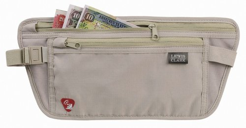 Rfid-Blocking Waist Stash Anti-Theft Hidden Money Belt, Taupe, One Size